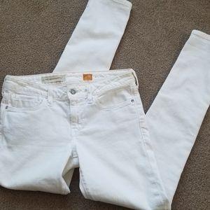 Anthro Pilco Letterpress White Stet Skinny Jeans